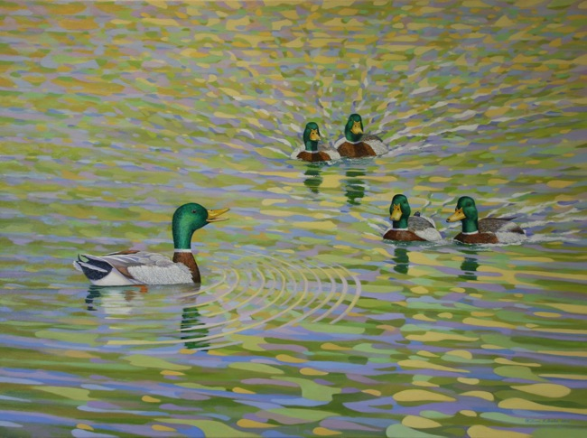 Flyboys , by William R. Beebe, 30 x 40, Oil on Canvas