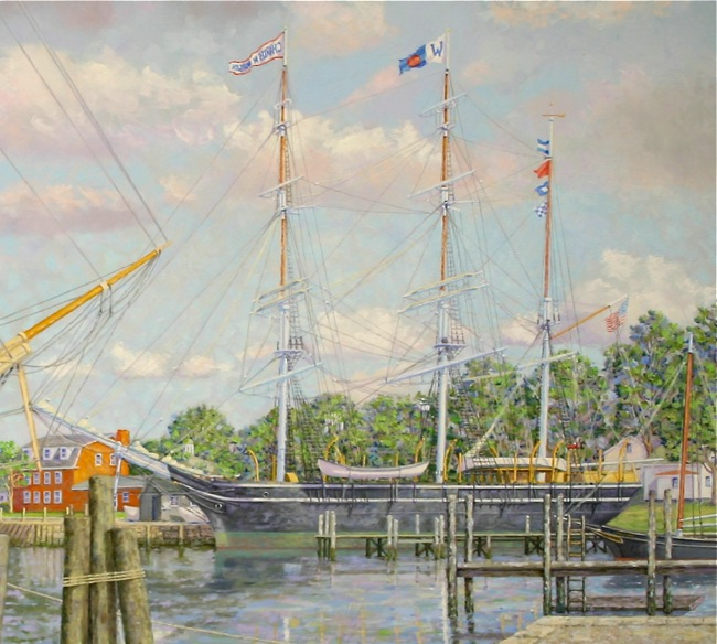 Mystic Flagships   (detail shot) by William R. Beebe