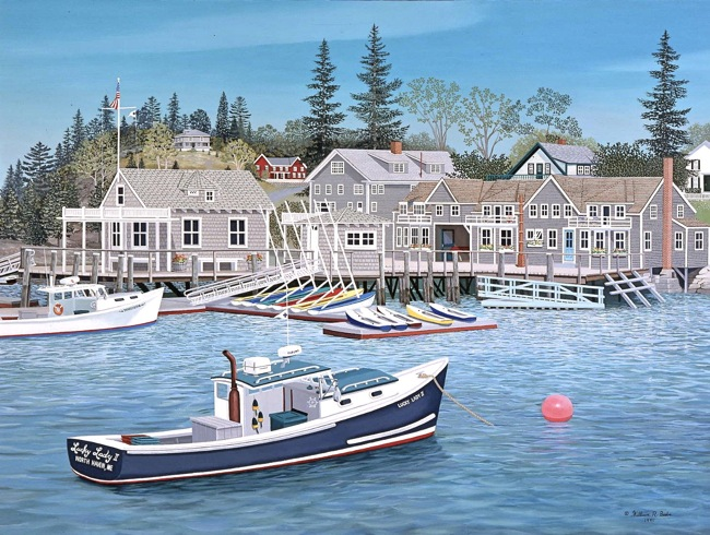 North Haven Harbor by William R. Beebe, SOLD Limited Edition prints available
