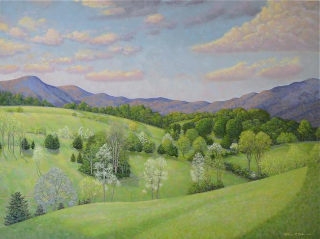 AMERICAN LANDSCAPES High Rock Vista  , 30 x 40, Oil on canvas