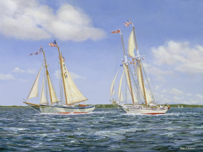 MARITIME Chasing the Eagle  , 18 x 24, Oil on board