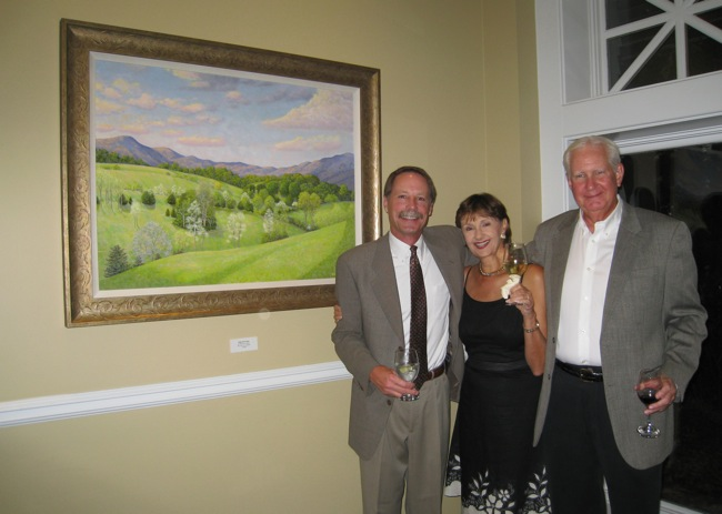Bill with the happy new owners of   High Rock Vista  !