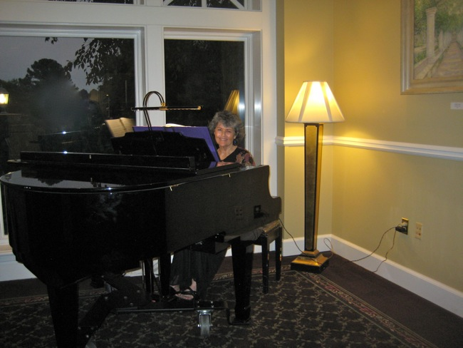 Our wonderful pianist Cathy Combs!