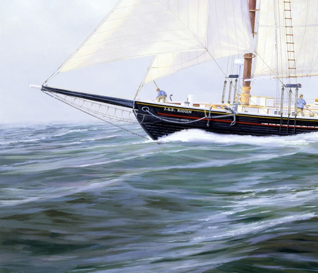 Storm Approaching  (DETAIL SHOT), by William R. Beebe, 24 x 36, oil on board, Artist's collection