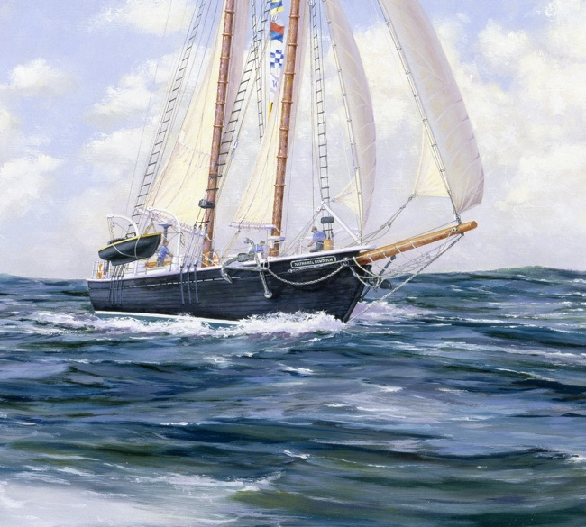 Offshore Challenge  (DETAIL SHOT), by William R. Beebe, 24 x 28, oil on board, AVAILABLE