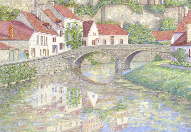 Semur-en-Auxois, France  (DETAIL SHOT), by William R. Beebe, 20 x 24, oil on canvas, AVAILABLE