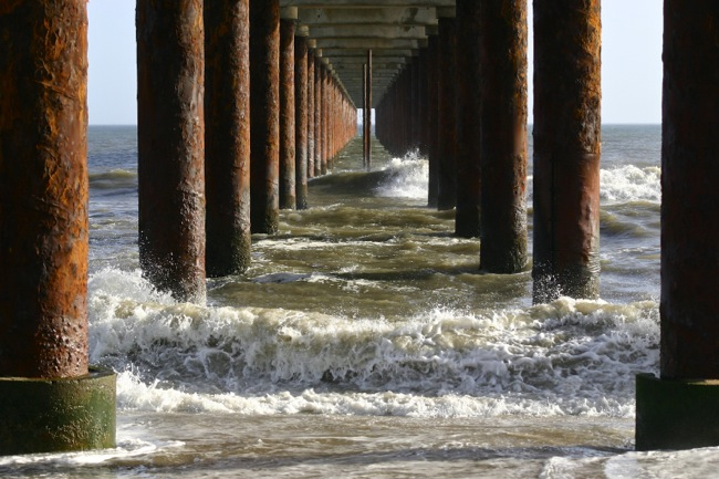 This is underneath the pier and where we stood riding out the violent storm! This picture was NOT taken that day, but on an earlier trip and on a much nicer day!