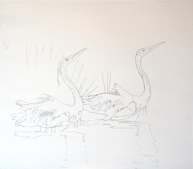 The Dance by William R. Beebe, pencil sketch