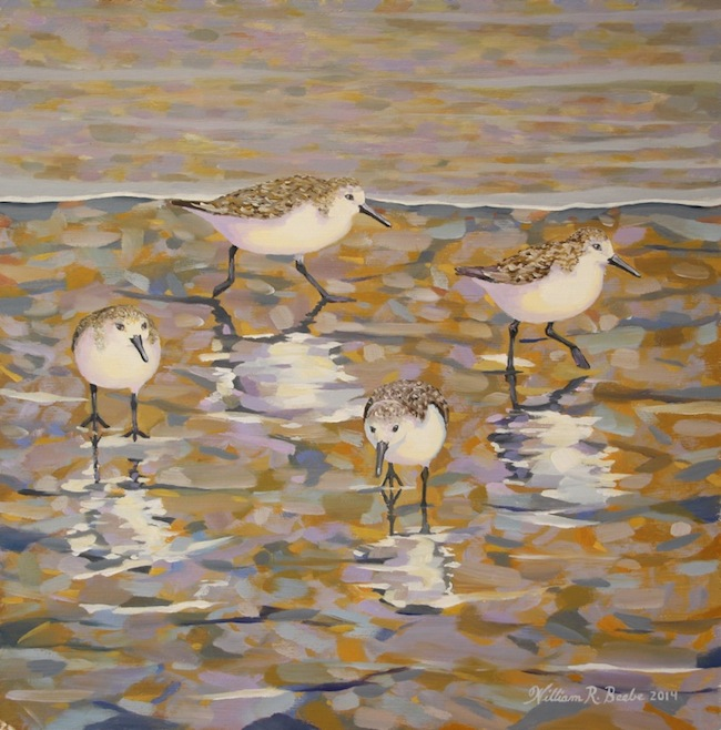 Reflections    by William R. Beebe, 12 x 12, oil on board, SOLD