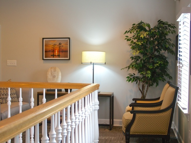 Two River Country Club Lobby with William R. Beebe sunset photograph
