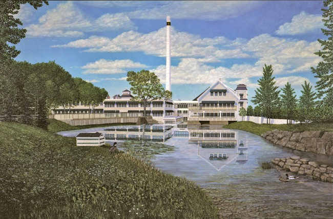 The Knox Mill, MBNA Regional Headquarters, painting by William R. Beebe