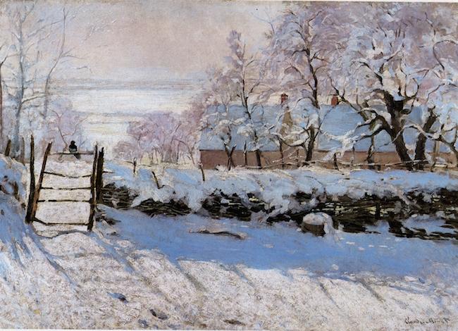 Magpie  by Claude Monet
