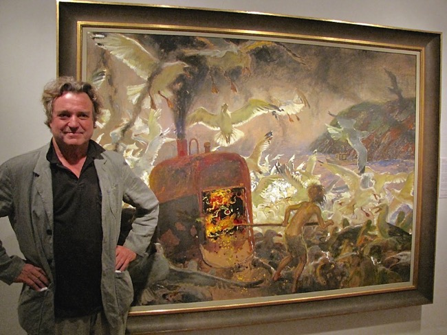 Jamie Wyeth and his painting entitled Inferno