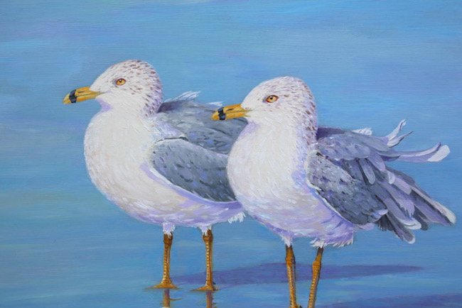 Side by Side  (detail) by William R. Beebe, 12 x 14, oil on board