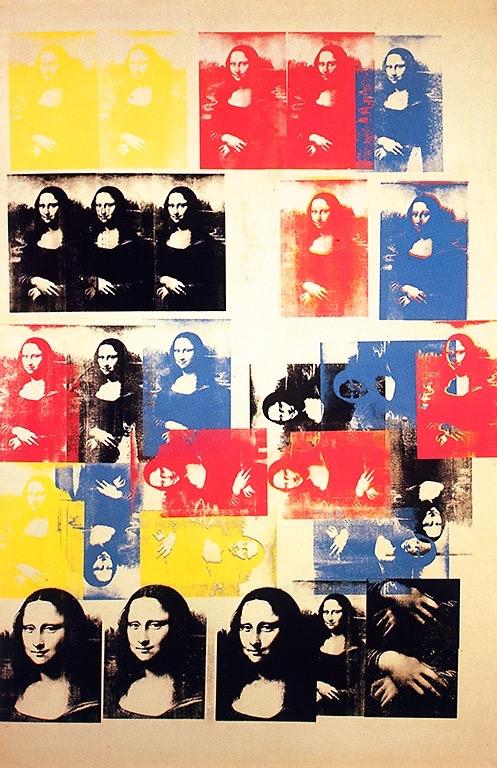 Andy Warhol's Colored Mona Lisa