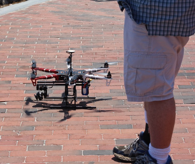 The Drone and its controller photographed by William R. Beebe