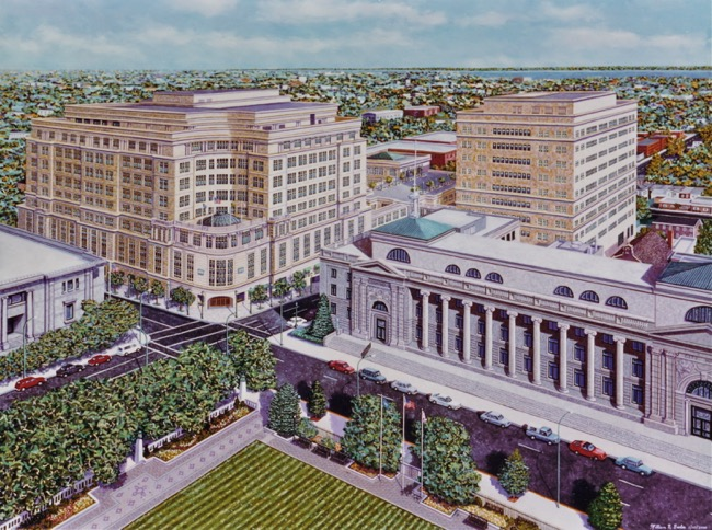 MBNA's Wilmington Headquarters, paintingby William R. Beebe