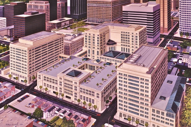 MBNA's Wilmington Headquarters, painting by William R. Beebe