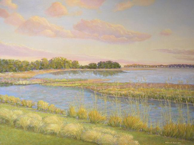 Tall Grasses on the Salt Marsh ,   by William R. Beebe, 30 x 40, oil on canvas, $6600