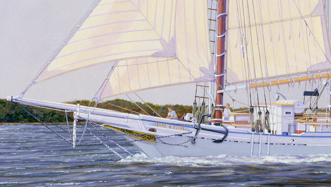 The Isaac H. Evans   by William R. Beebe (detail shot of bow)