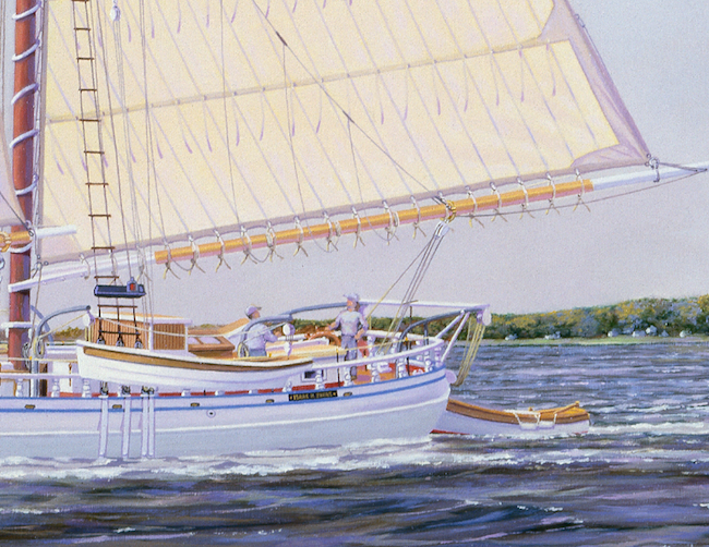 The Isaac H. Evans   by William R. Beebe (detail shot of stern)