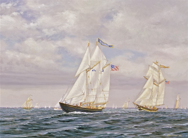 Friendly Rivals    by William R. Beebe, 18 x 24, oil on board, $11,000