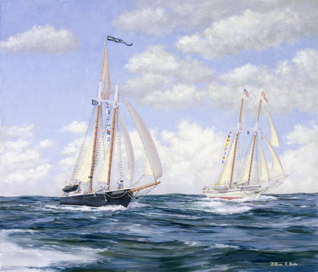 Offshore Challenge    by William R. Beebe, 24 x 28, oil on board, $15,000