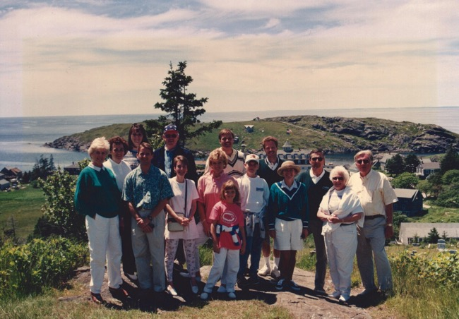 Monhegan Island, 1996 with Charlie and Julie Cawley and friends
