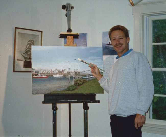 William R. Beebe in his Maine studio in the early 1990's