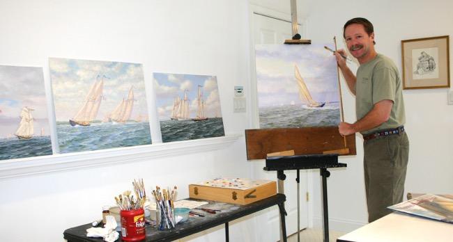 William R. Beebe in his Virginia studio in 2008