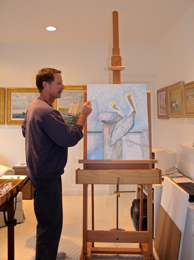 William R. Beebe in his Virginia studio in 2015