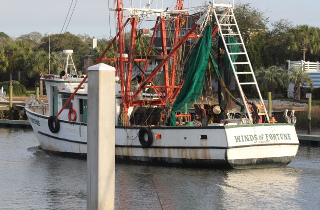 Free ride on the Winds of Fortune in Shem Creek Charleston SC Photo by William R. Beebe