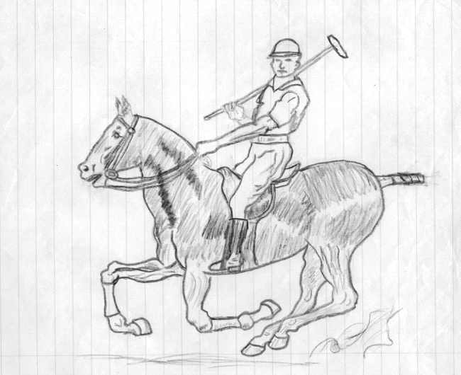 Drawing by a very young William R. Beebe