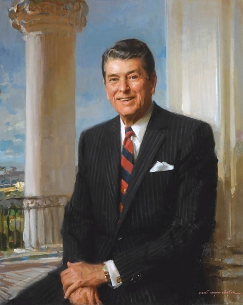 The Official White House portrait of Ronald Reagan