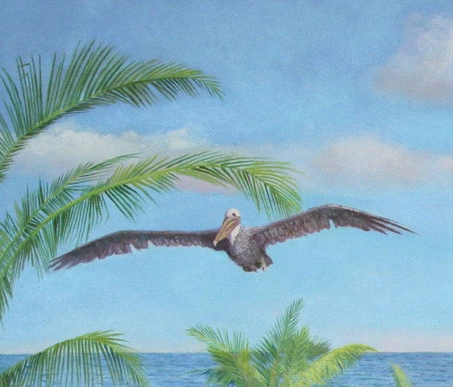 Big Brown leading the way! Painting (detail) by William R. Beebe