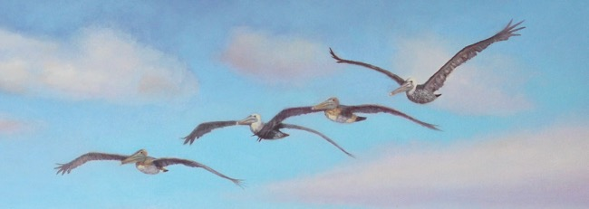 Taking the scenic route! Painting (detail) by William R. Beebe