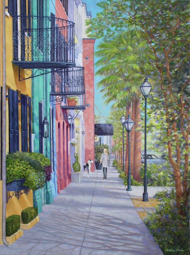Downtown World    by William R. Beebe, 40 x 30, oil on canvas, $9600