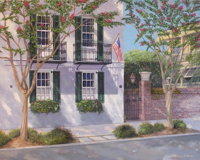 3 Meeting Street    by William R. Beebe, 24 x 30, oil on board, $5800