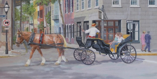 Touring the French Quarter in Charleston   (detail shot) by William R. Beebe