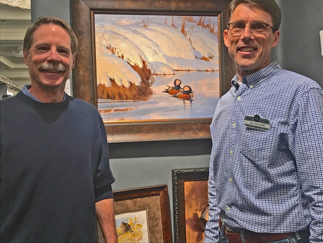 William R. Beebe (left) with Jim Rataczak at SEWE