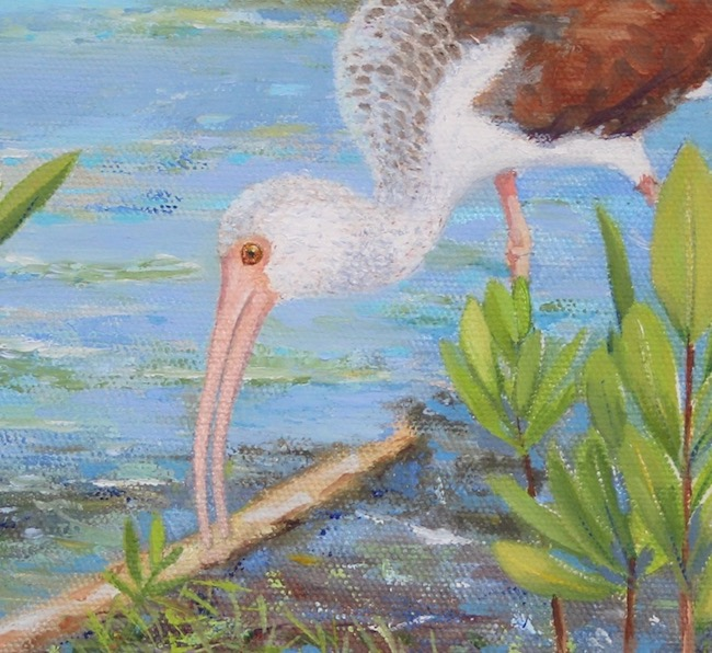 In the Shallows   by William R. Beebe, detail shot