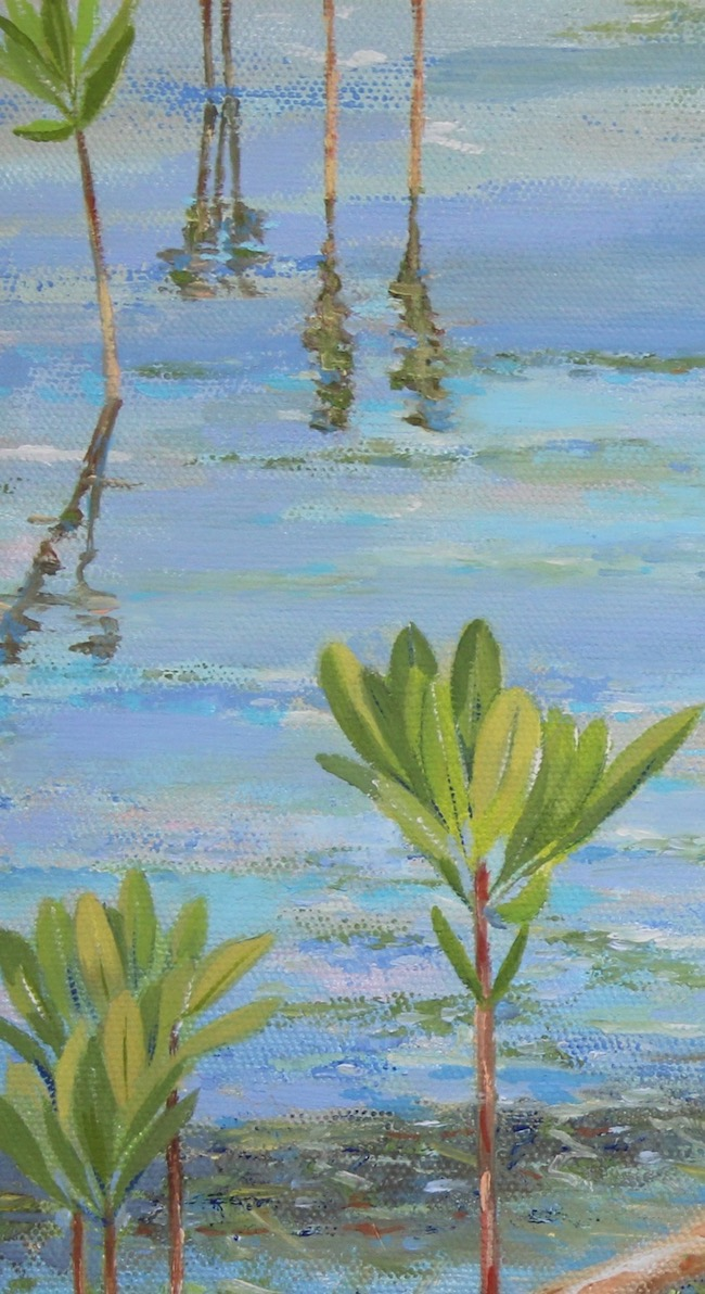 In the Shallows   by William R. Beebe, water detail
