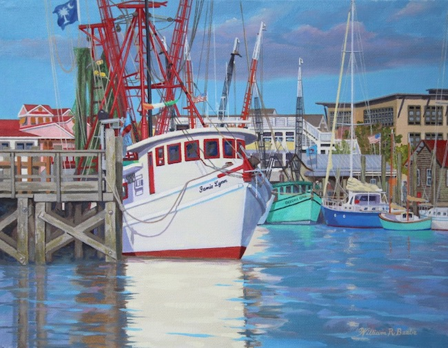 The Many Colors of Shem Creek    by William R. Beebe, 11 x 14, Oil on canvas, $3000