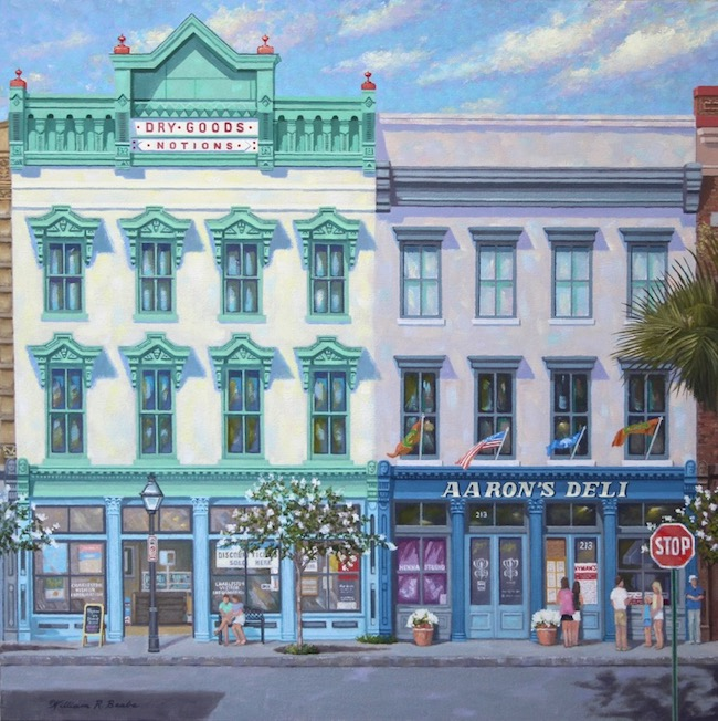 Next Stop Aaron's Deli    by William R. Beebe, 20 x 20, Oil on canvas, $3800