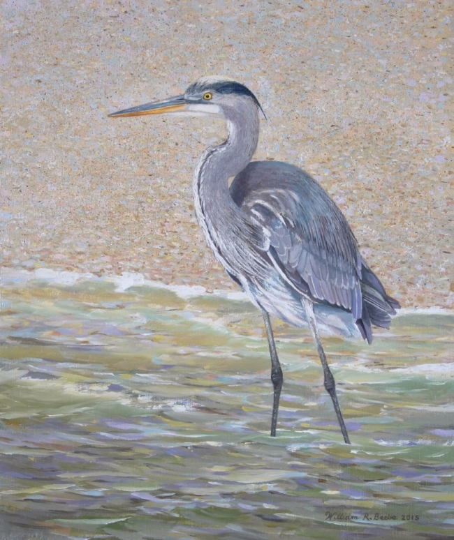 Beach Blue    by William R. Beebe, 12 x 10, Oil on board, SOLD