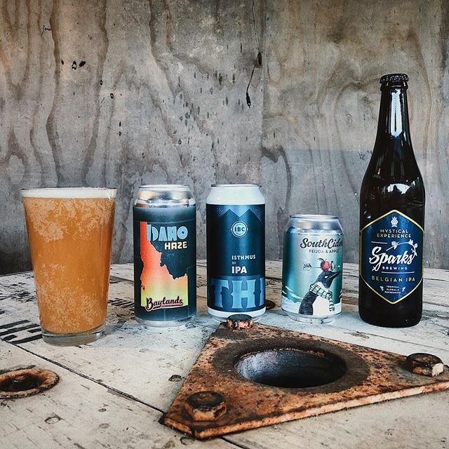 New additions to our craft beer fridge today! Idaho Haze from @baylandsbrewery  3D IPA from @isthmusbrewing  Feijoa cider from @southcidernz  Mystical Experience Belgium IPA from @sparksbrewing  #nzcraftbeer #okerefallsstore #kiwicraftbeer #rotorua