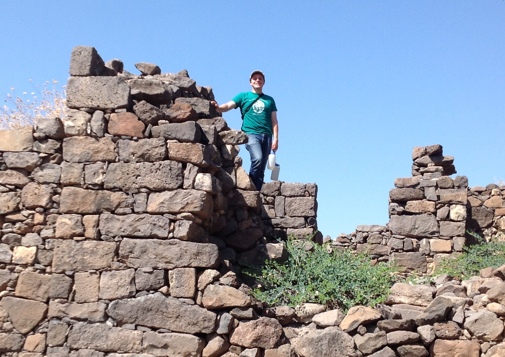 Staff member Mark Lester at the site of Gamla