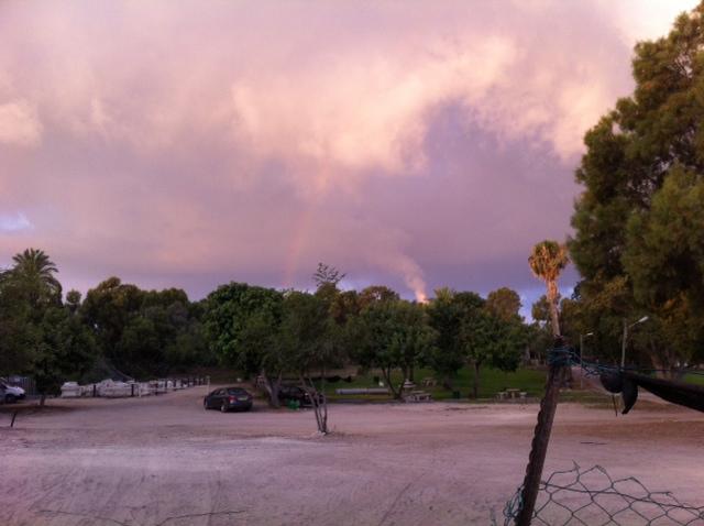 Rainbow over Ashkelon