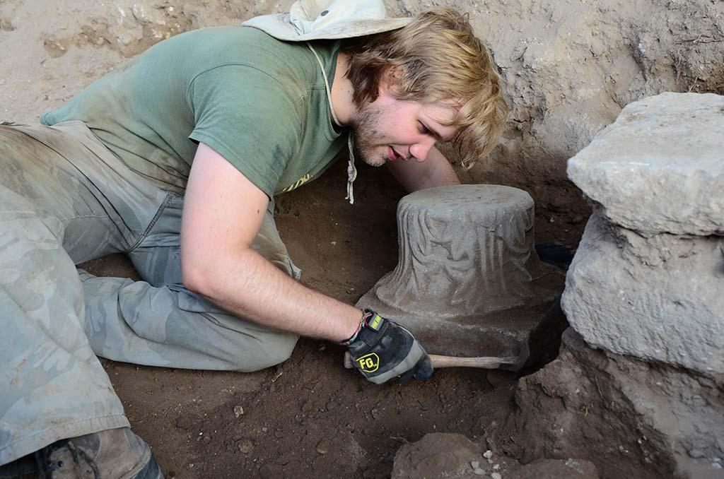 Excavating a fallen capital