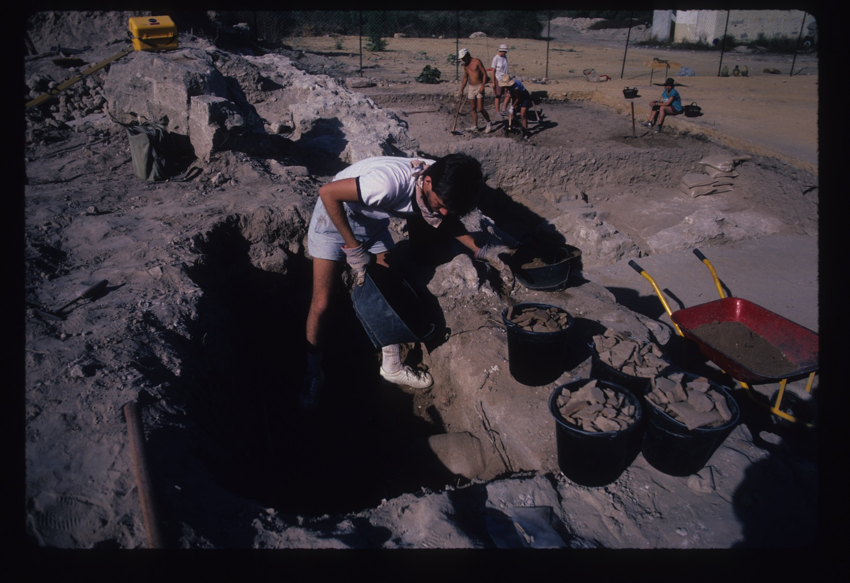 Digging dirt and collecting pottery, 1985
